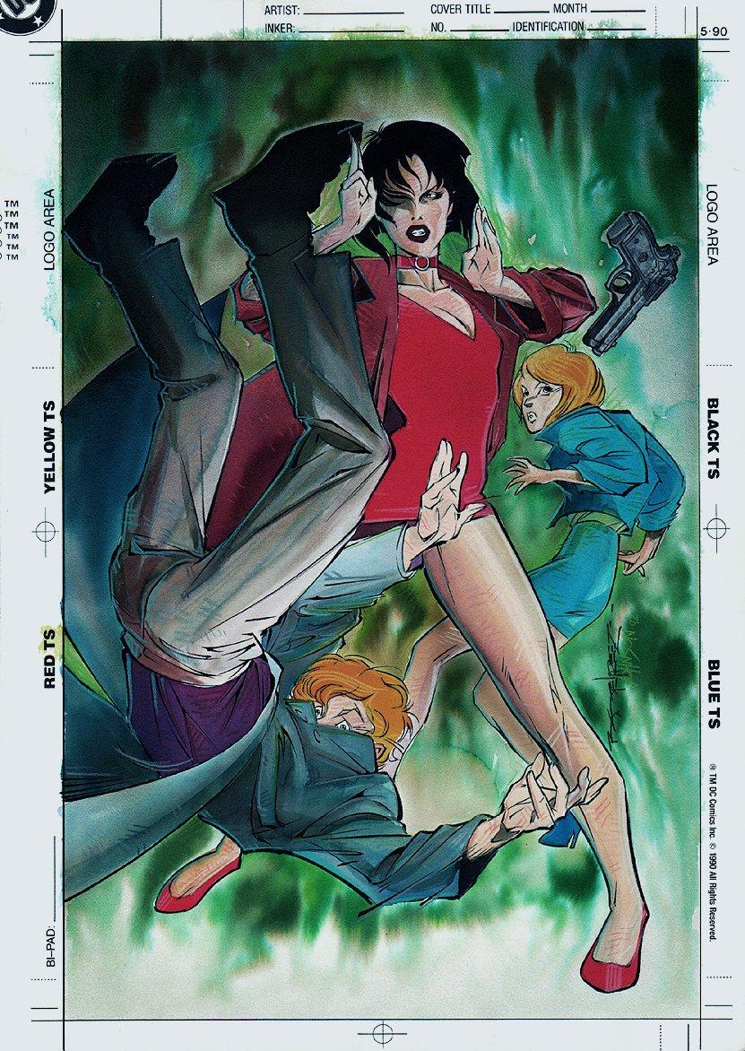 Venus Wars II #5 Cover Painting (1992)
