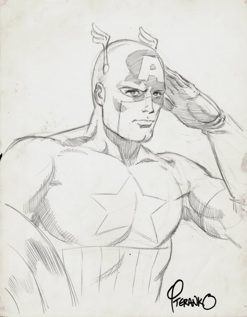Captain America Pinup (1970s)