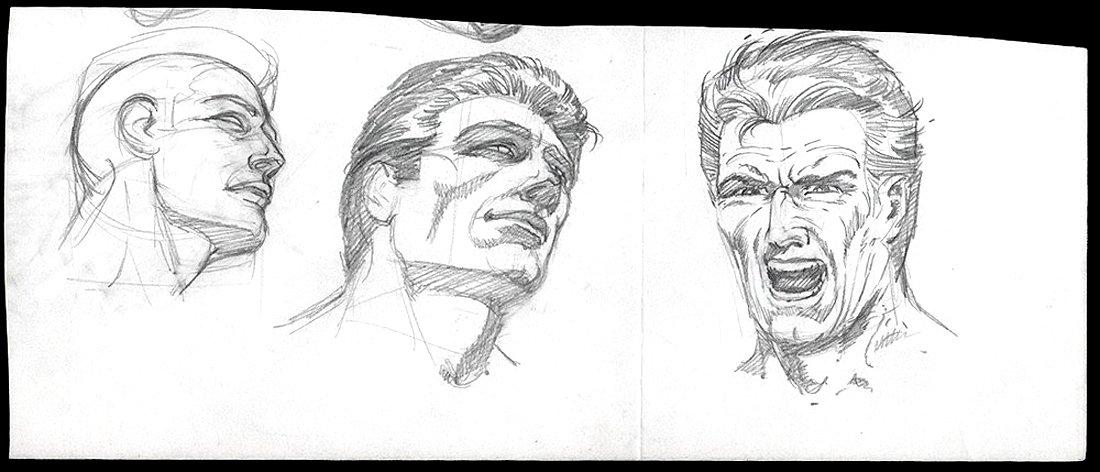 Nice 3 Image Head Study (1970s)