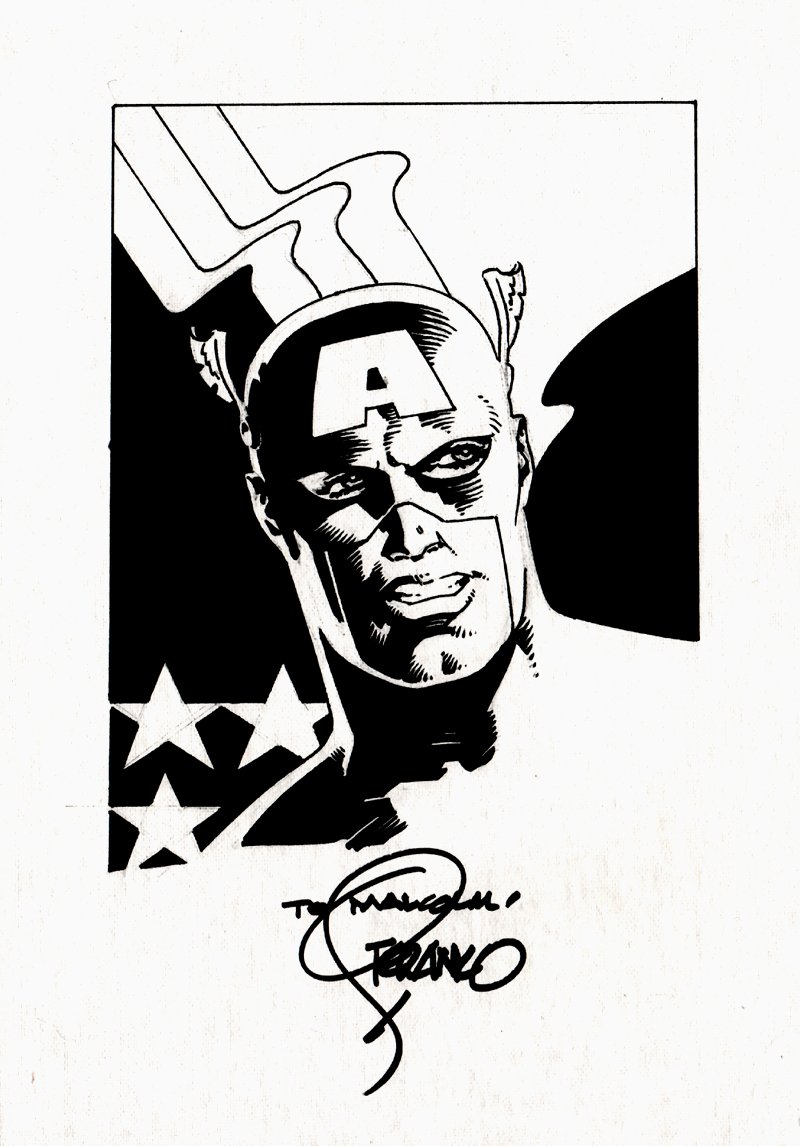 Captain America Detailed Pinup