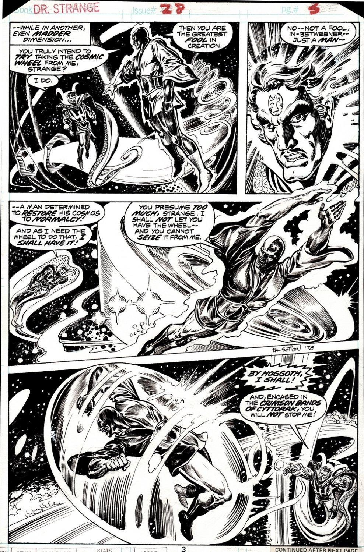 Doctor Strange #28 p 3 (DR. STRANGE BATTLES THE IN-BETWEENER IN EVERY PANEL!) 1977