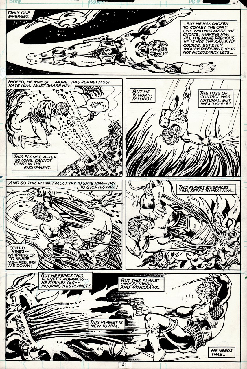 Marvel Premiere #61 p 21 (BEST STAR-LORD BATTLE PAGE IN BOOK...COVER SCENE!) 1981