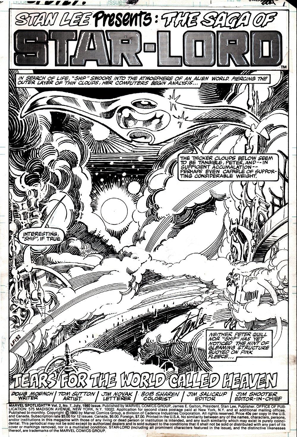 Marvel Spotlight #7 p 1 SPLASH (STARLORD ISSUE!) 1980