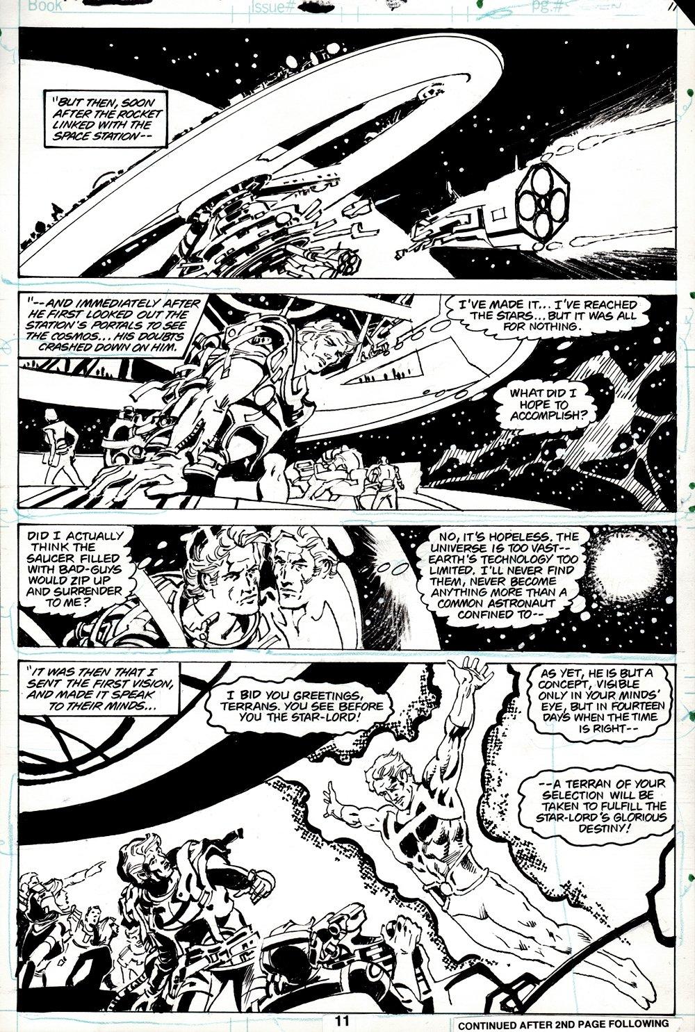 Marvel Spotlight #6 p 11 (COVER SCENE! EARLY STARLORD ORIGIN STORY!) 1978