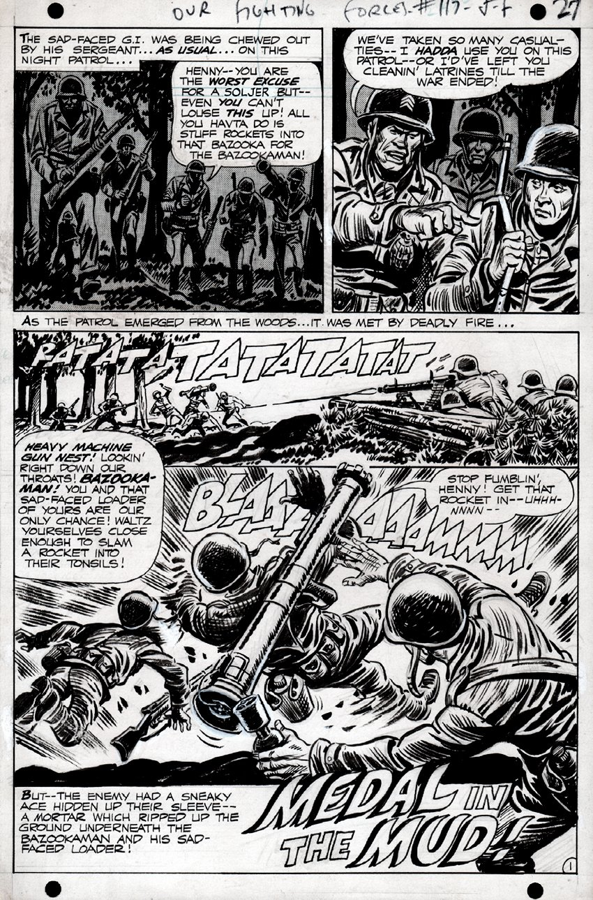 Our Fighting Forces #117 p 1 SPLASH (1968)