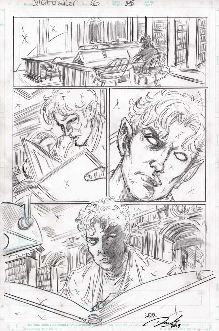 Nightcrawler #6 p 15 (NIGHTCRAWLER IN EVERY PANEL!) 2004
