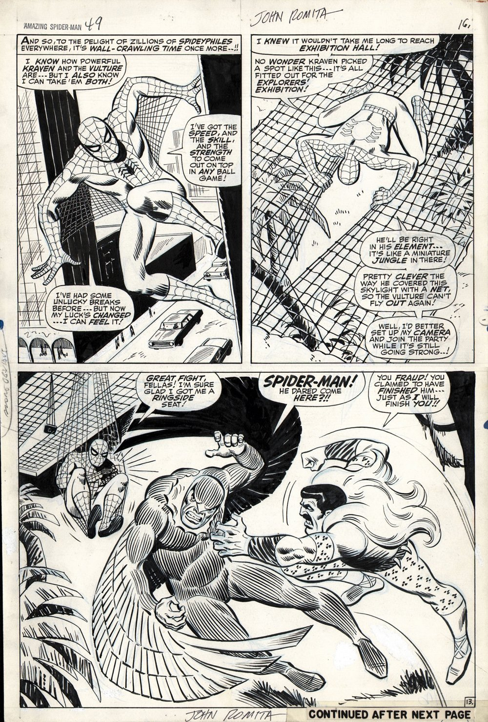 Amazing Spider-Man #49 p 13 (Large Art) SOLD SOLD SOLD!