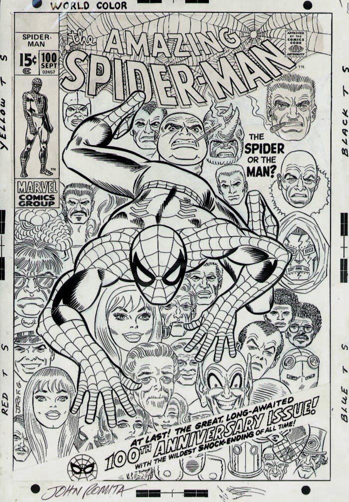 Amazing Spider-Man 100 Cover SOLD SOLD SOLD!