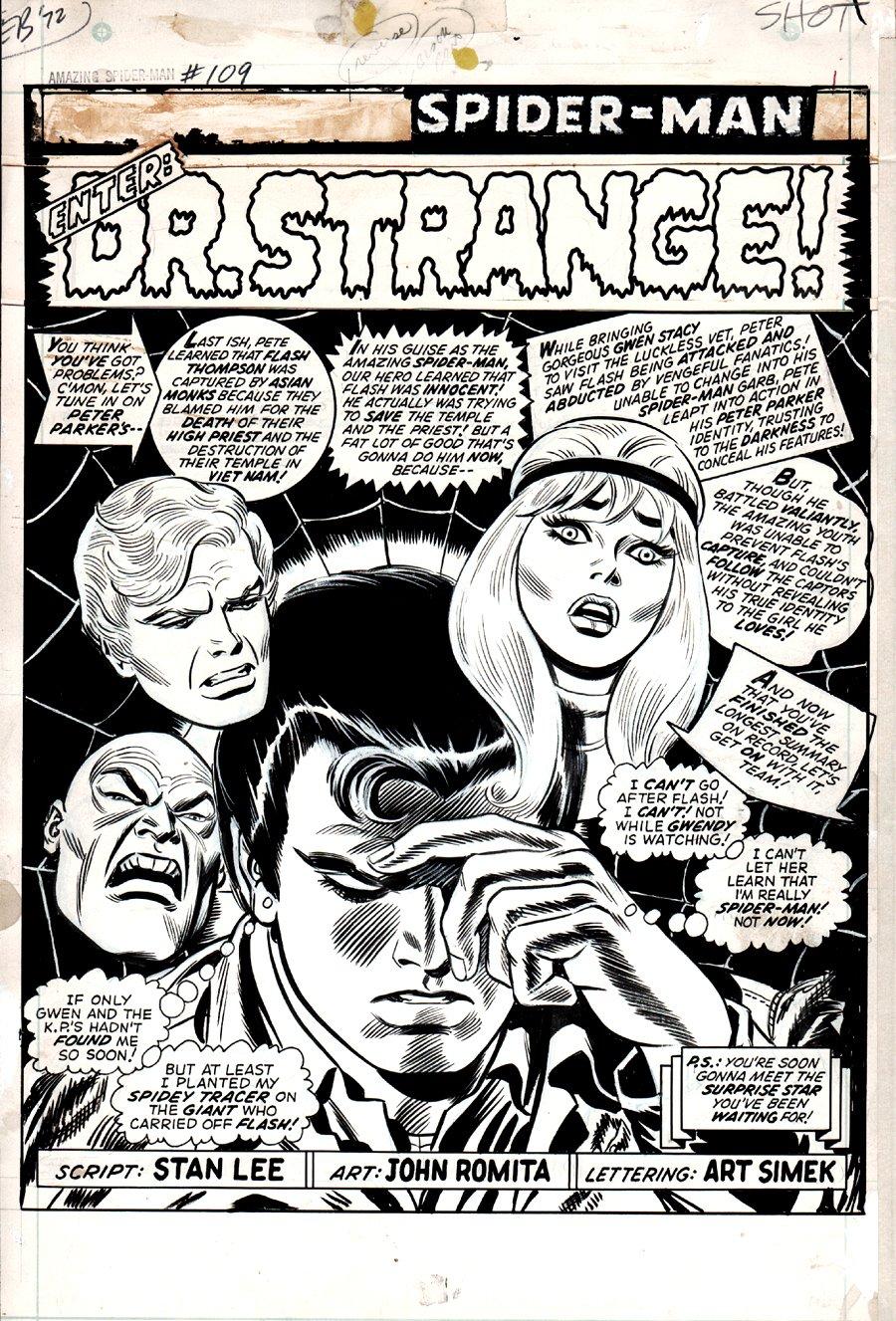 Amazing SpiderMan #109 p 1 SPLASH 1972 SOLD SOLD SOLD!