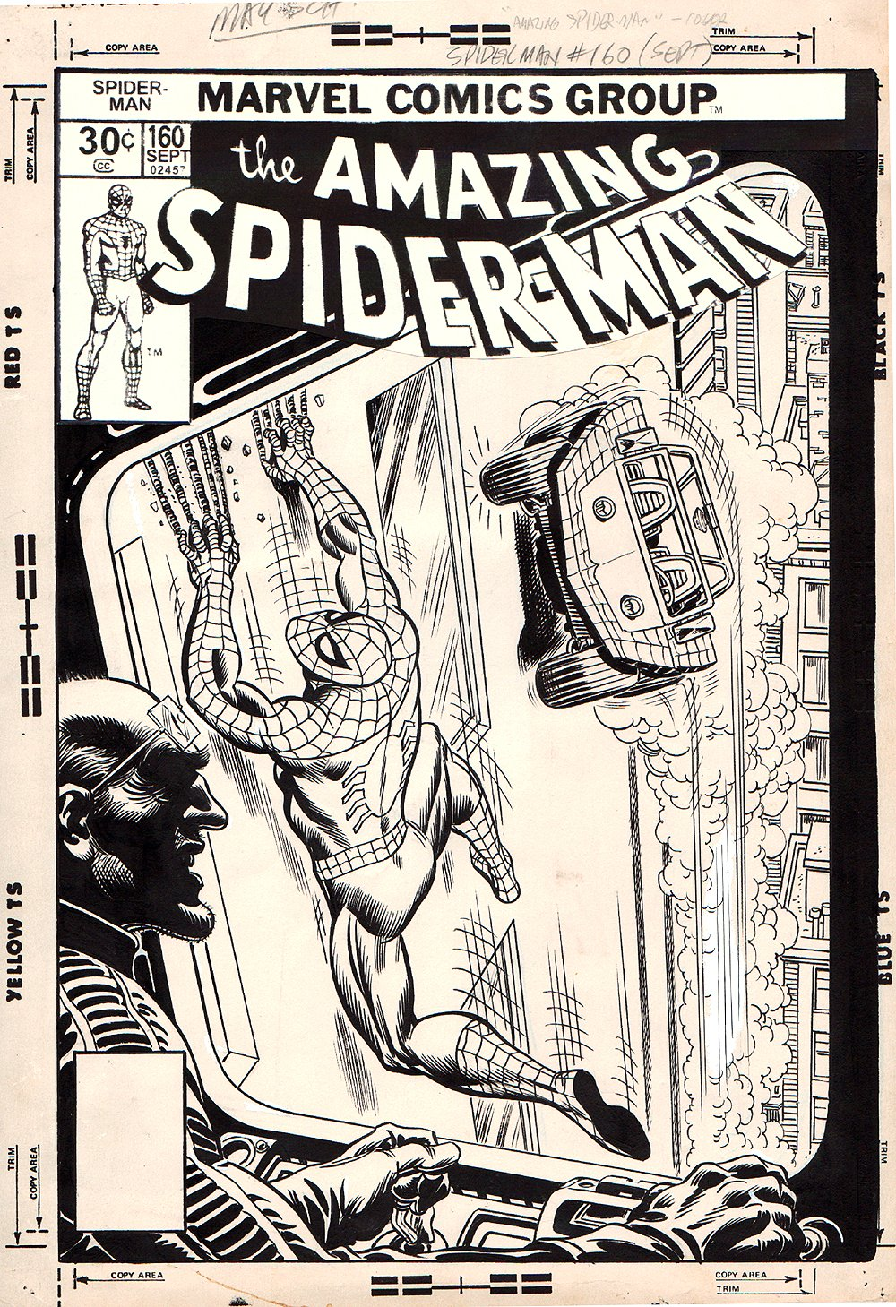 Amazing Spider-Man #160 Cover (1976) SOLD SOLD SOLD!