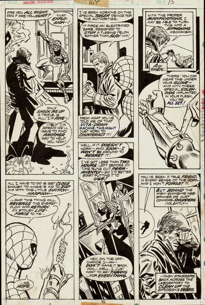 Amazing Spiderman #164 p 15 (1976) SOLD SOLD SOLD!