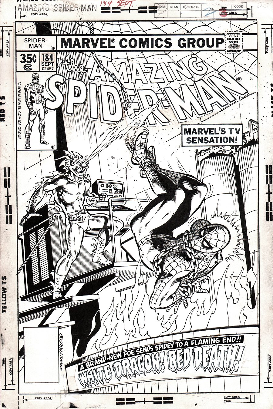 Amazing Spider-Man 184 Cover  SOLD SOLD SOLD!