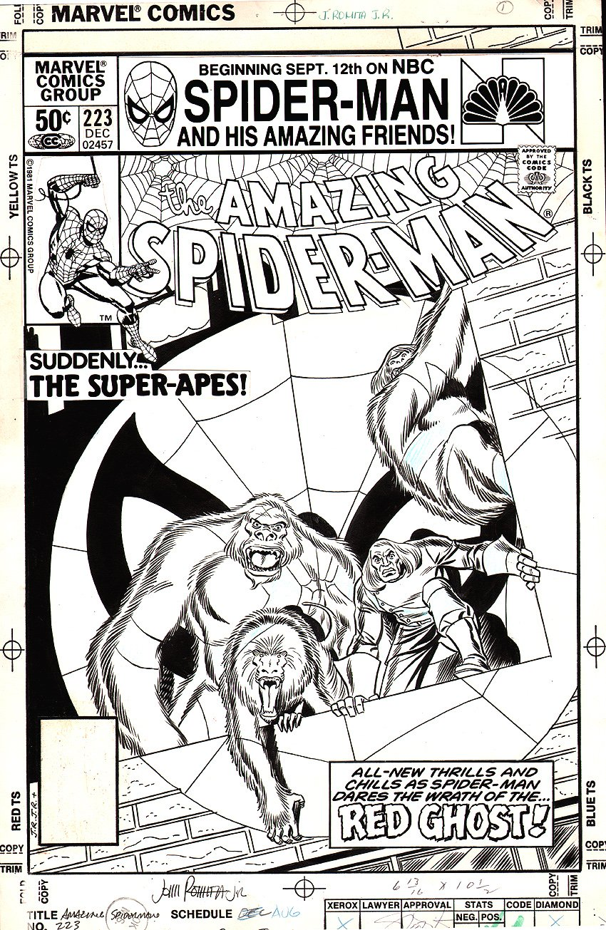 Amazing Spider-Man 223 Cover  SOLD SOLD SOLD!