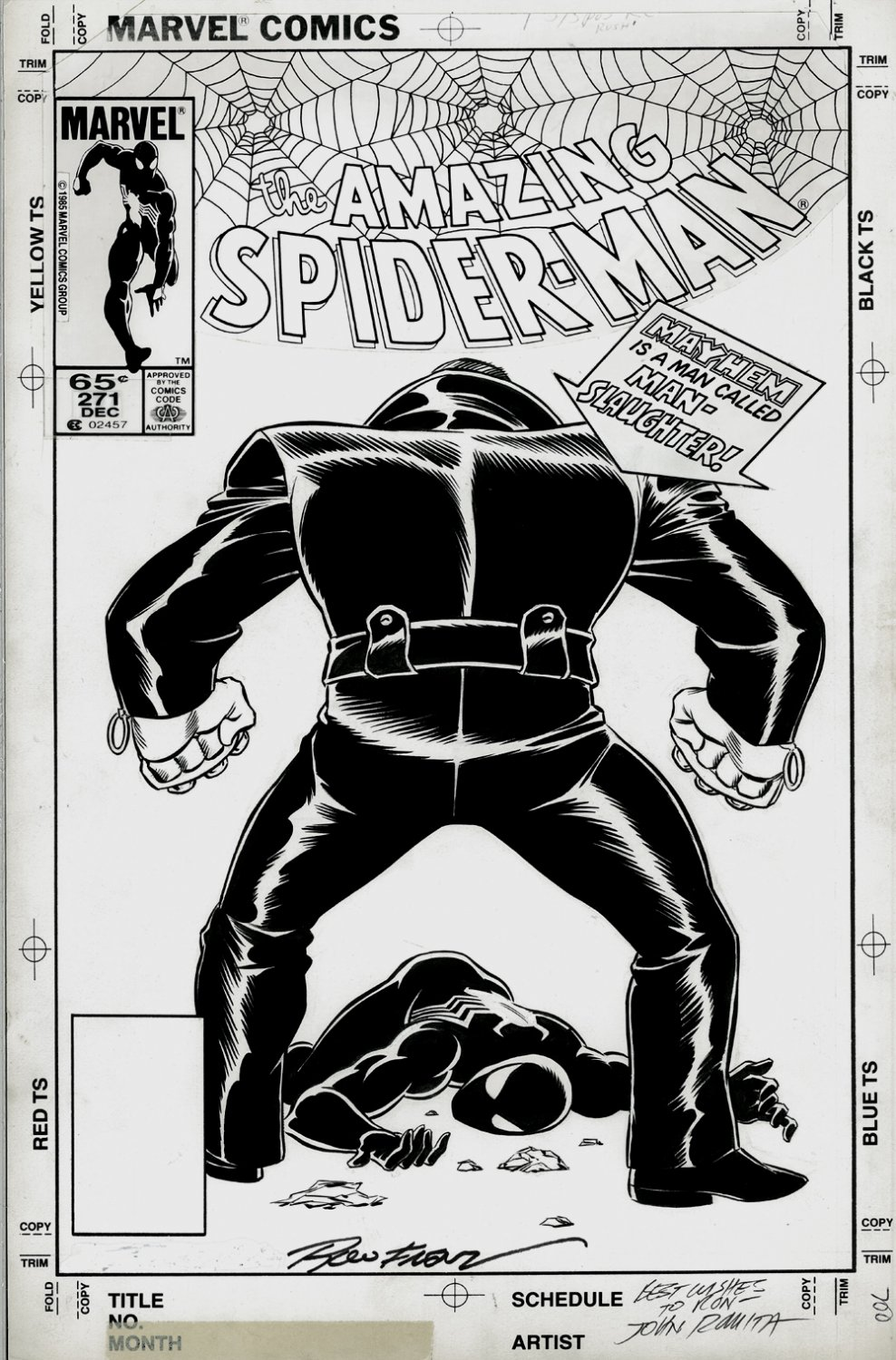 Amazing Spider-Man 271 Cover (1985)  SOLD SOLD SOLD!