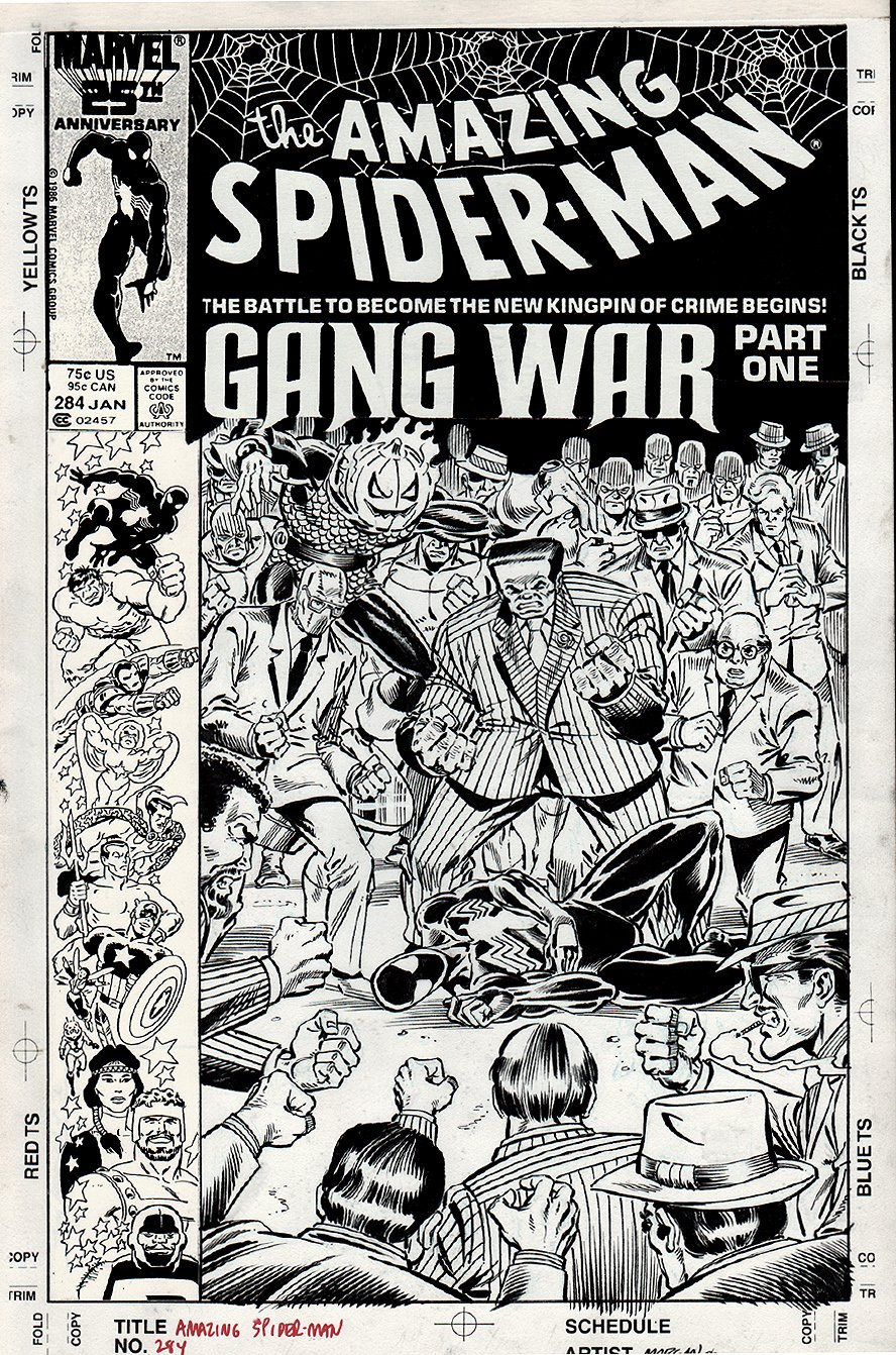 Amazing Spider-Man #284 Published Cover (1985) SOLD SOLD SOLD!