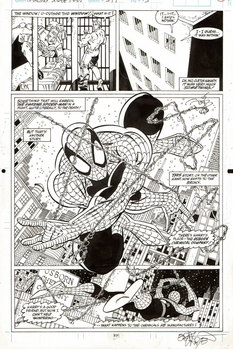 Amazing Spiderman #344 p 17 SPLASH (1990) SOLD SOLD SOLD!