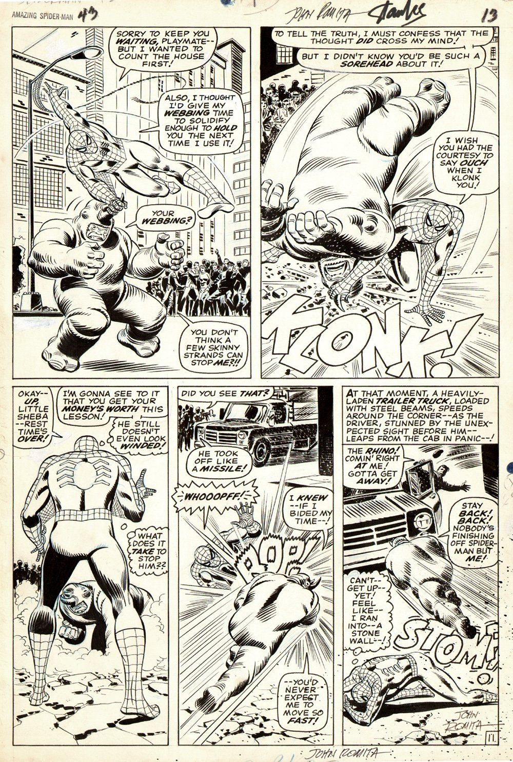 Amazing Spider-Man #43 p 11 (Large Art) SOLD SOLD SOLD!