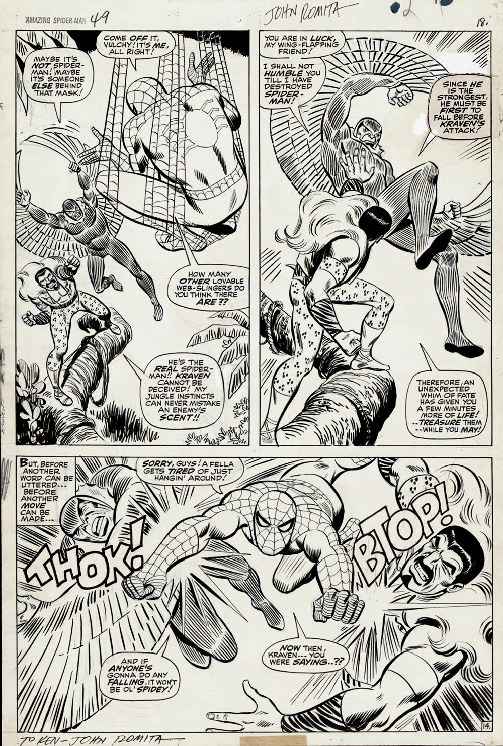 Amazing Spider-Man #49 p 14 (Large Art) 1967 SOLD SOLD SOLD!