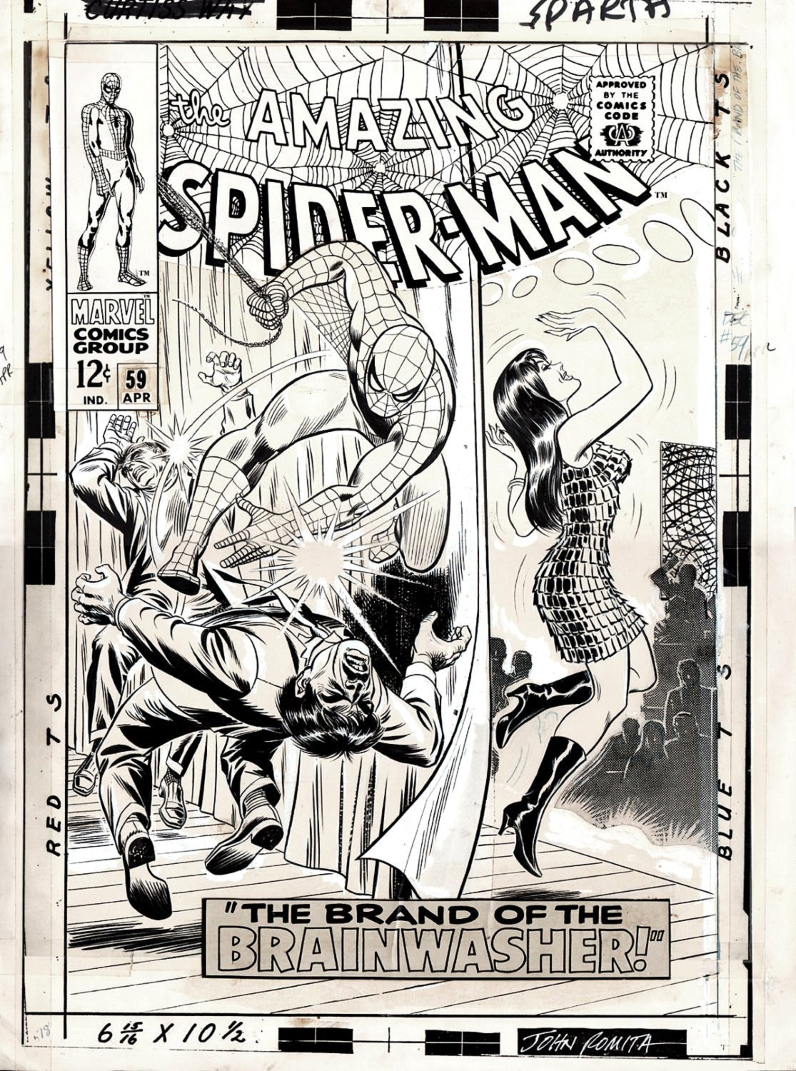 Amazing Spider-Man #59 Cover (LARGE ART!) 1967 SOLD SOLD SOLD!