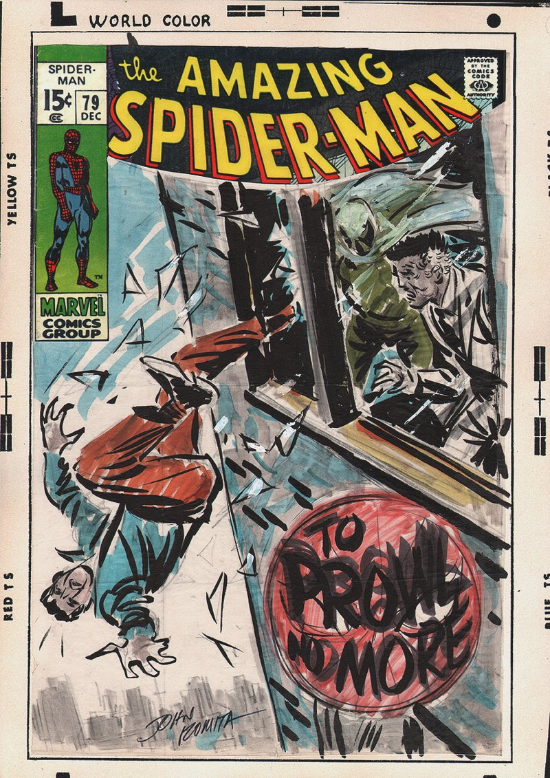 Amazing Spider-Man #79 Preliminary Cover SOLD SOLD SOLD!