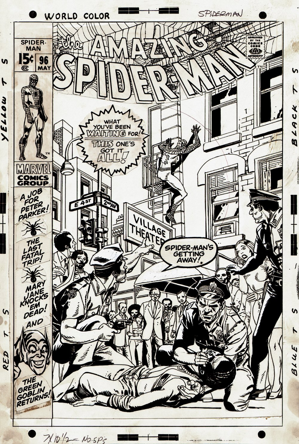 Amazing Spider-Man #96 Cover (1971) SOLD SOLD SOLD!