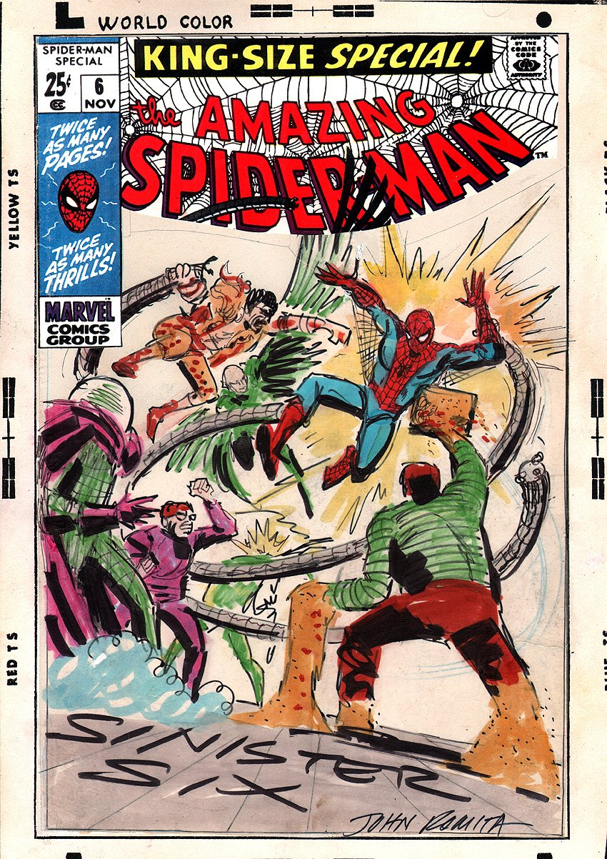 Amazing Spider-Man Annual #6 Preliminary Cover SOLD SOLD SOLD!