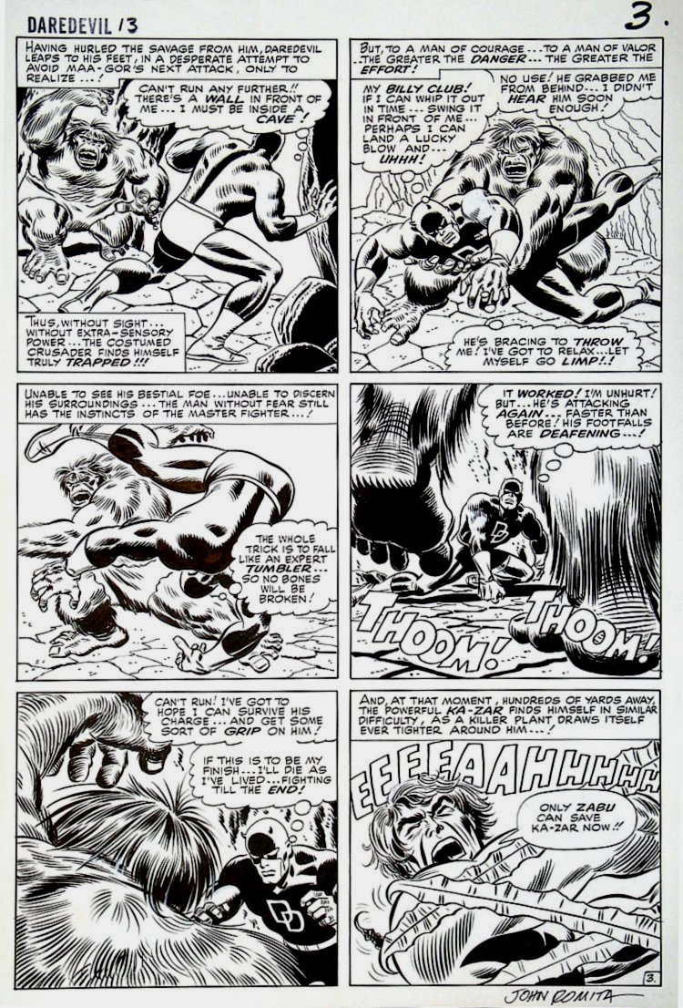 Daredevil #13 p 3 (Large Art) 1965 SOLD SOLD SOLD!