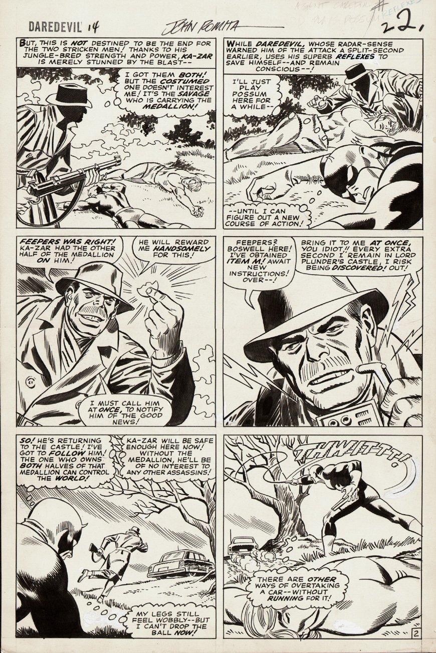 Daredevil #14 p 2 (Large Art) 1965 SOLD SOLD SOLD!