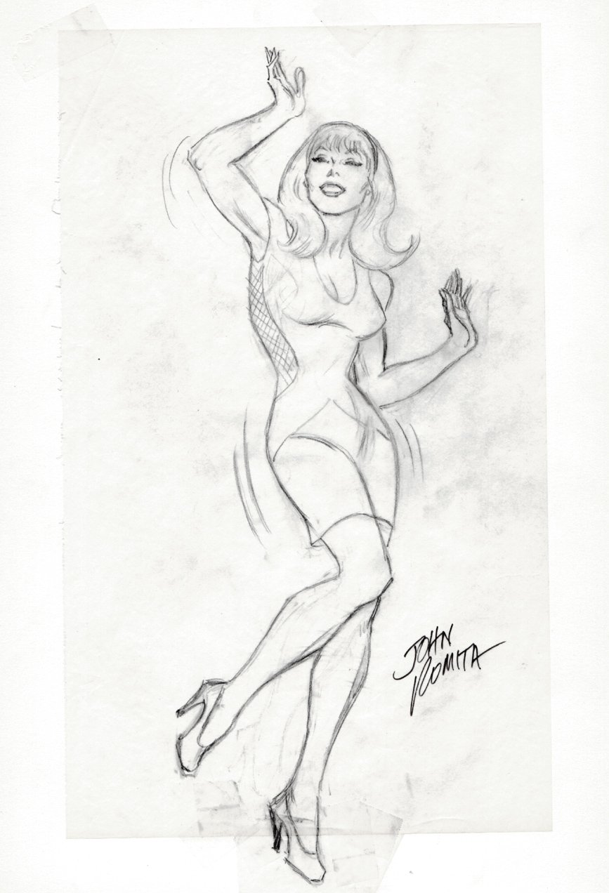 Gwen Stacy Dancing Pinup SOLD SOLD SOLD!