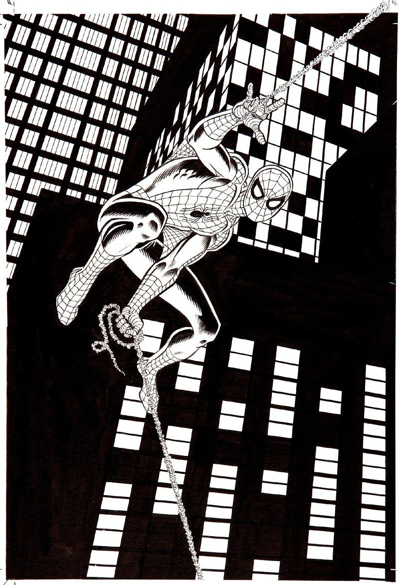 TV Guide Spider-Man Original Cover  Art SOLD SOLD SOLD!