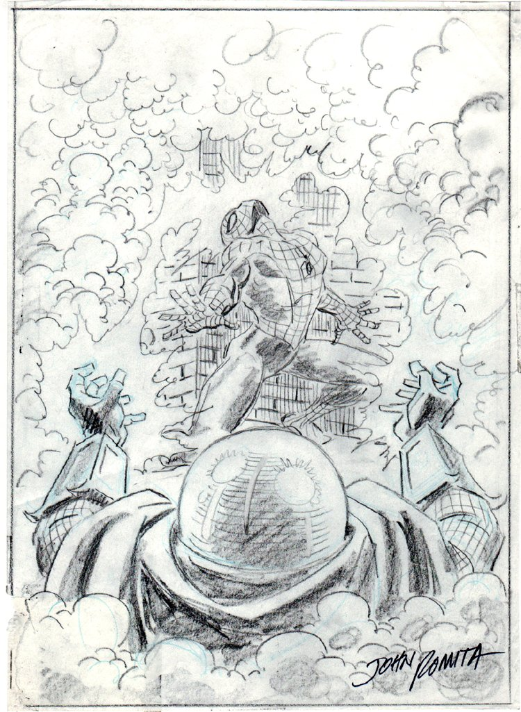 Spider-Man / Mysterio Proposed Cover (1980s) SOLD SOLD SOLD!