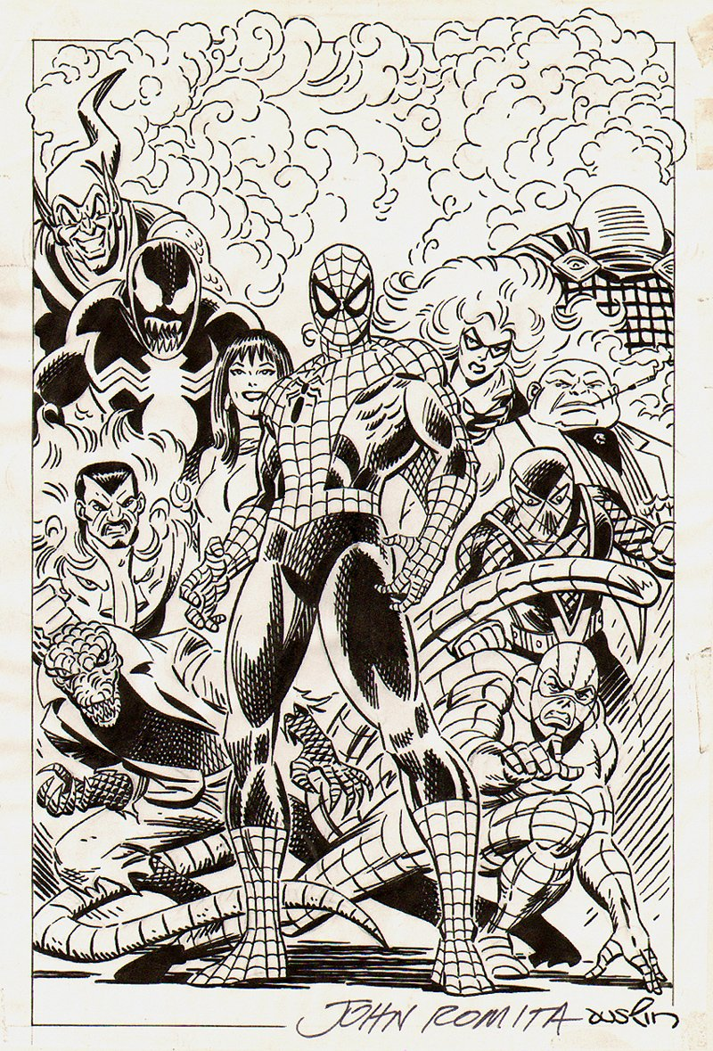 Spider-Man, Villains, And Friends Pinup SOLD SOLD SOLD!