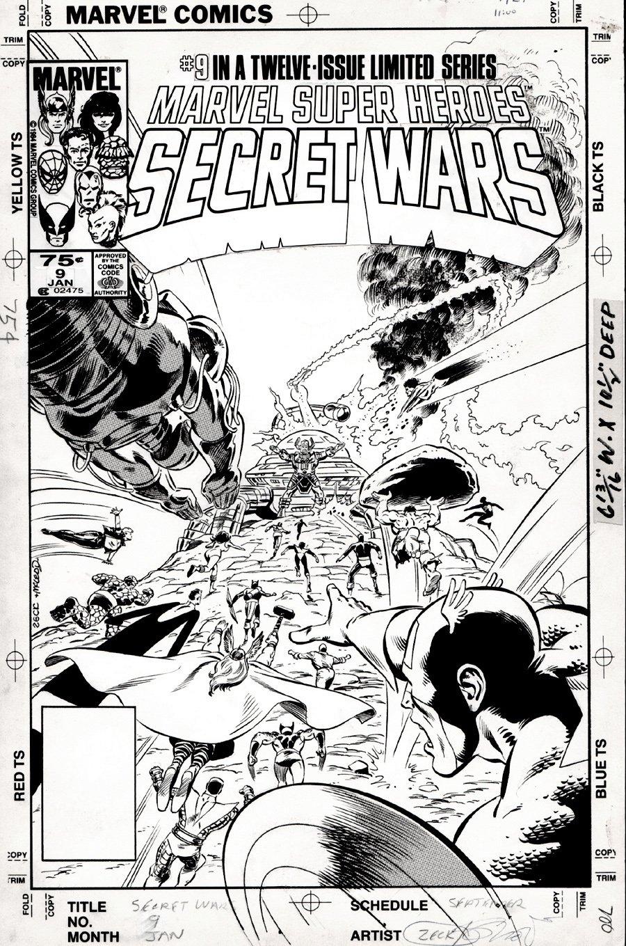Marvel Super-Heroes Secret Wars #9 Cover (1984) SOLD SOLD SOLD!