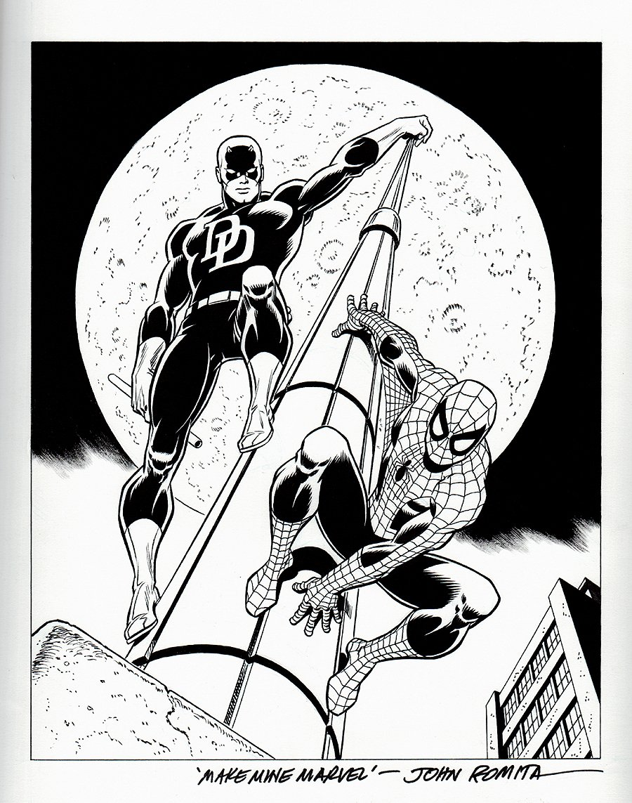 Daredevil / Spider-Man Poster Art & Published Lithograph SOLD SOLD SOLD!