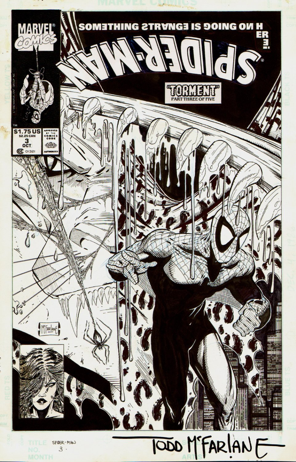 Spider-Man #3 Cover (1990)  SOLD SOLD SOLD!