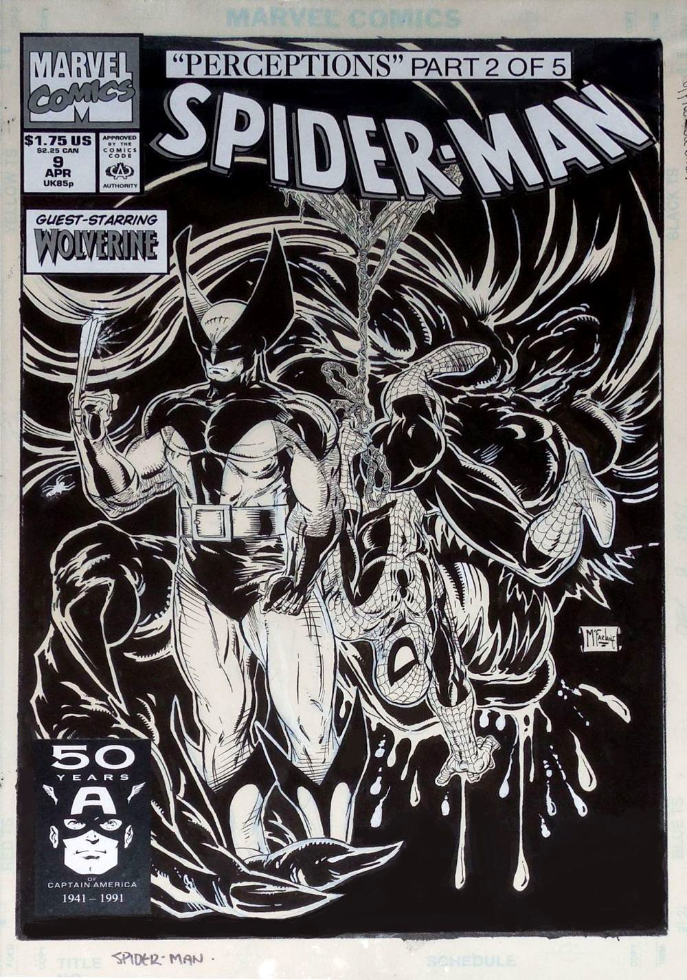 Spider-Man #9 Cover (1990) SOLD SOLD SOLD!