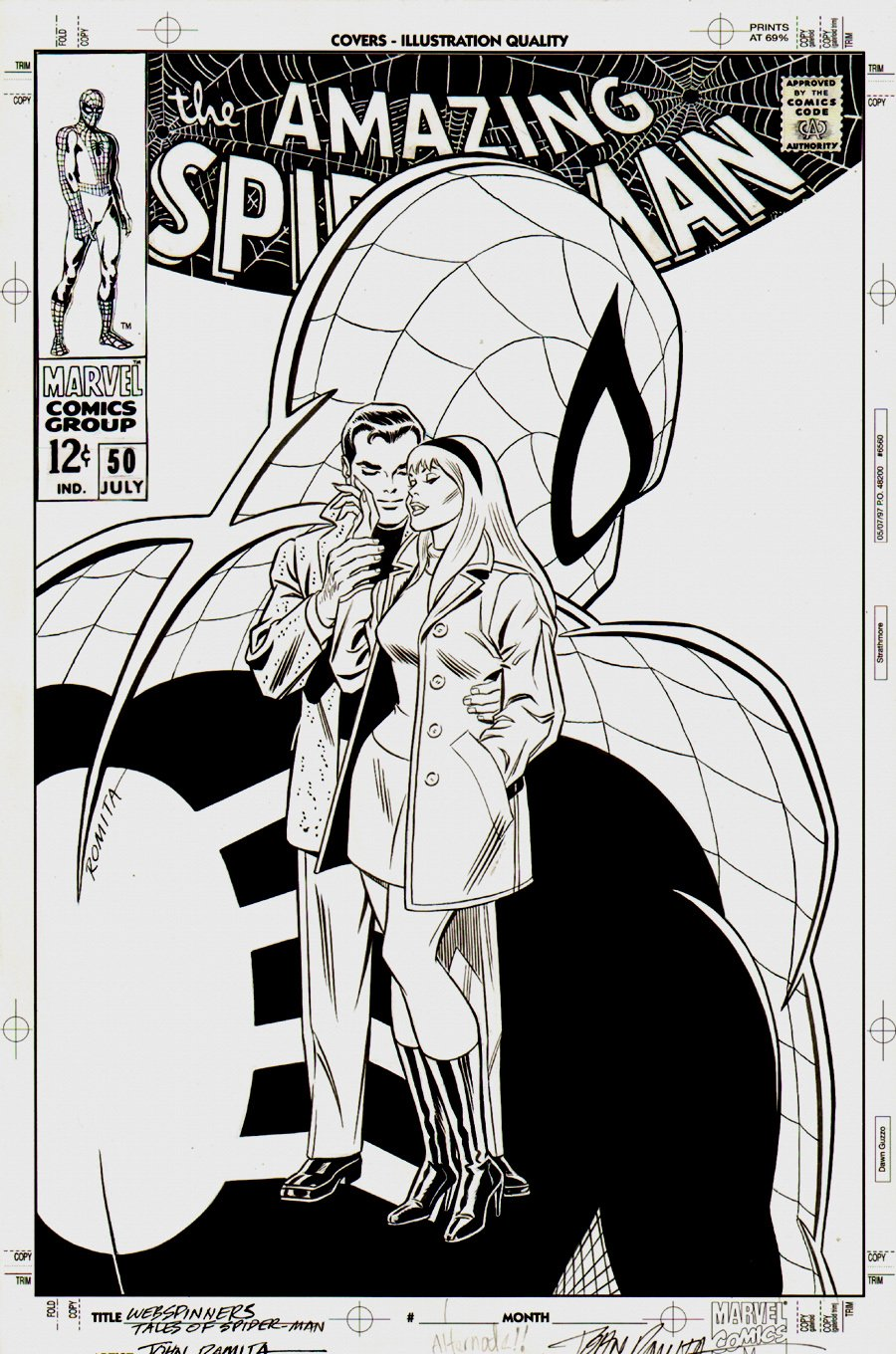 Webspinners: Tales of Spider-Man #1 Cover (1998) SOLD SOLD SOLD!