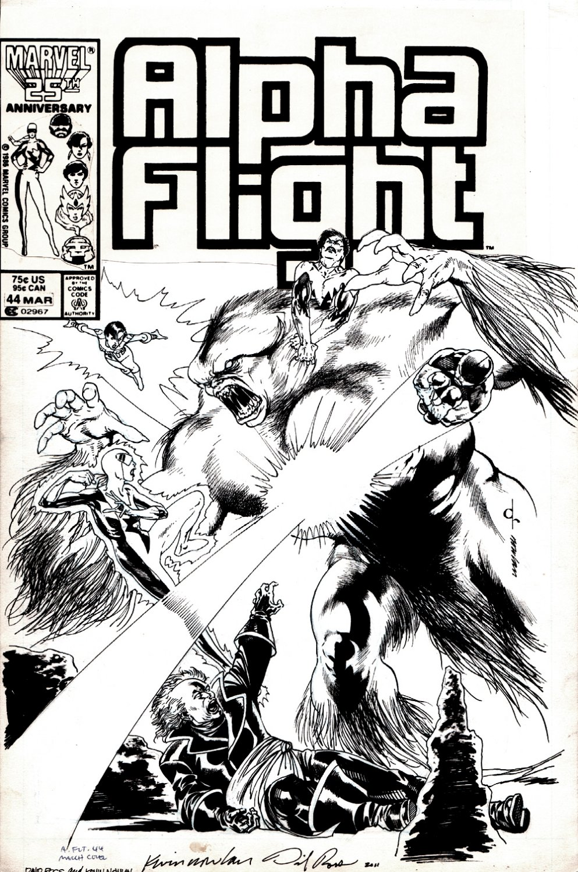 Alpha Flight #44 Cover (1986)