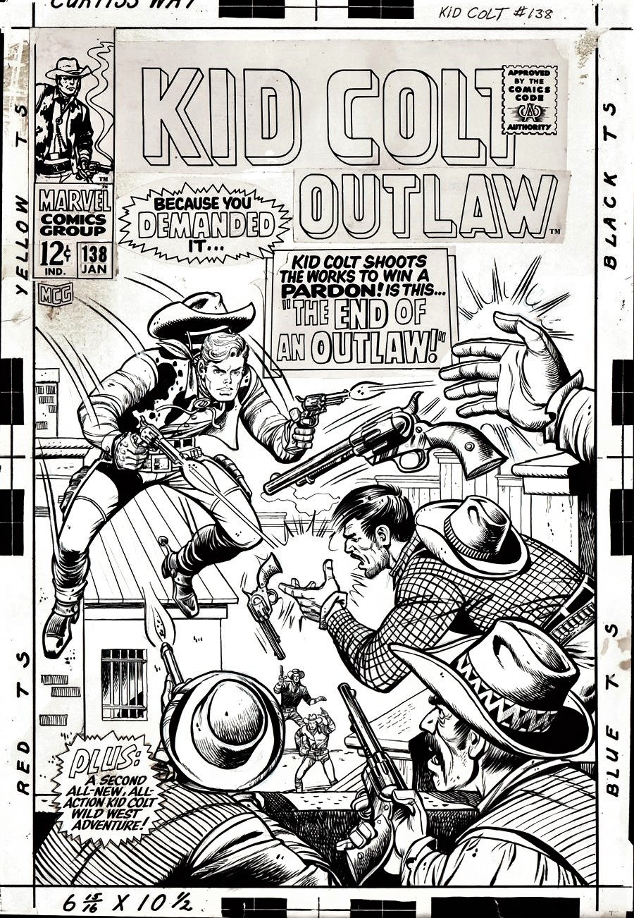 Kid Colt Outlaw #138 Cover (Large Art) 1967