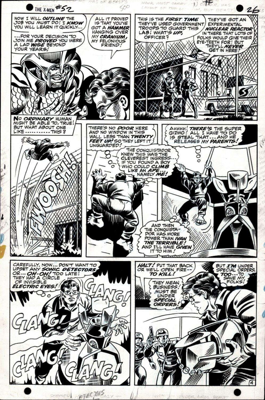 X-Men #52 p 4 (ORIGIN OF THE BEAST!) 1968