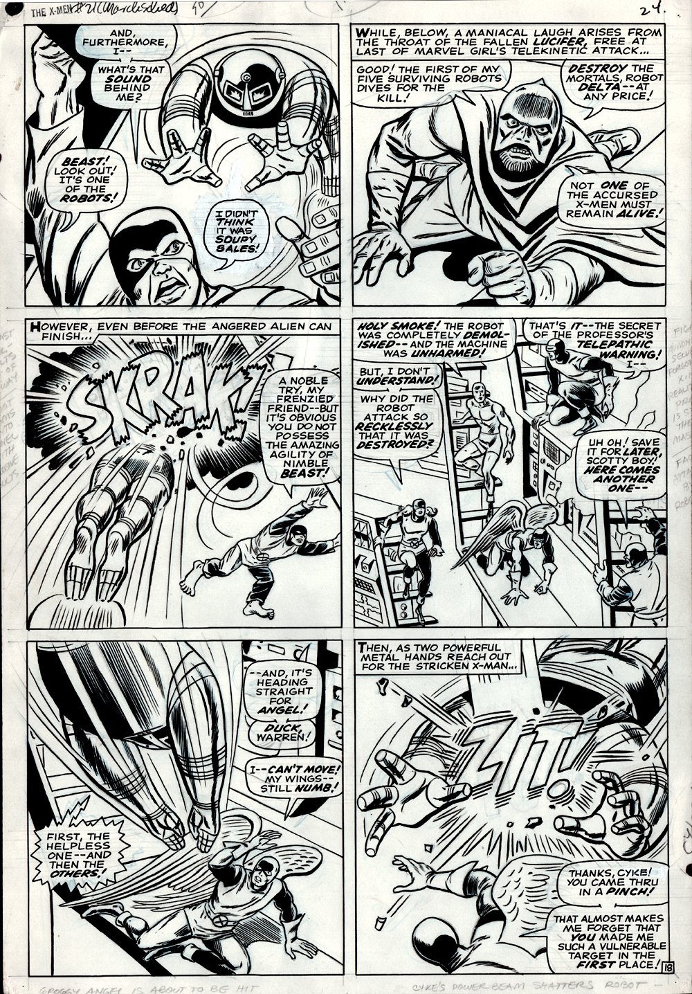 X-Men #21 p 18 (LARGE ART) 1966