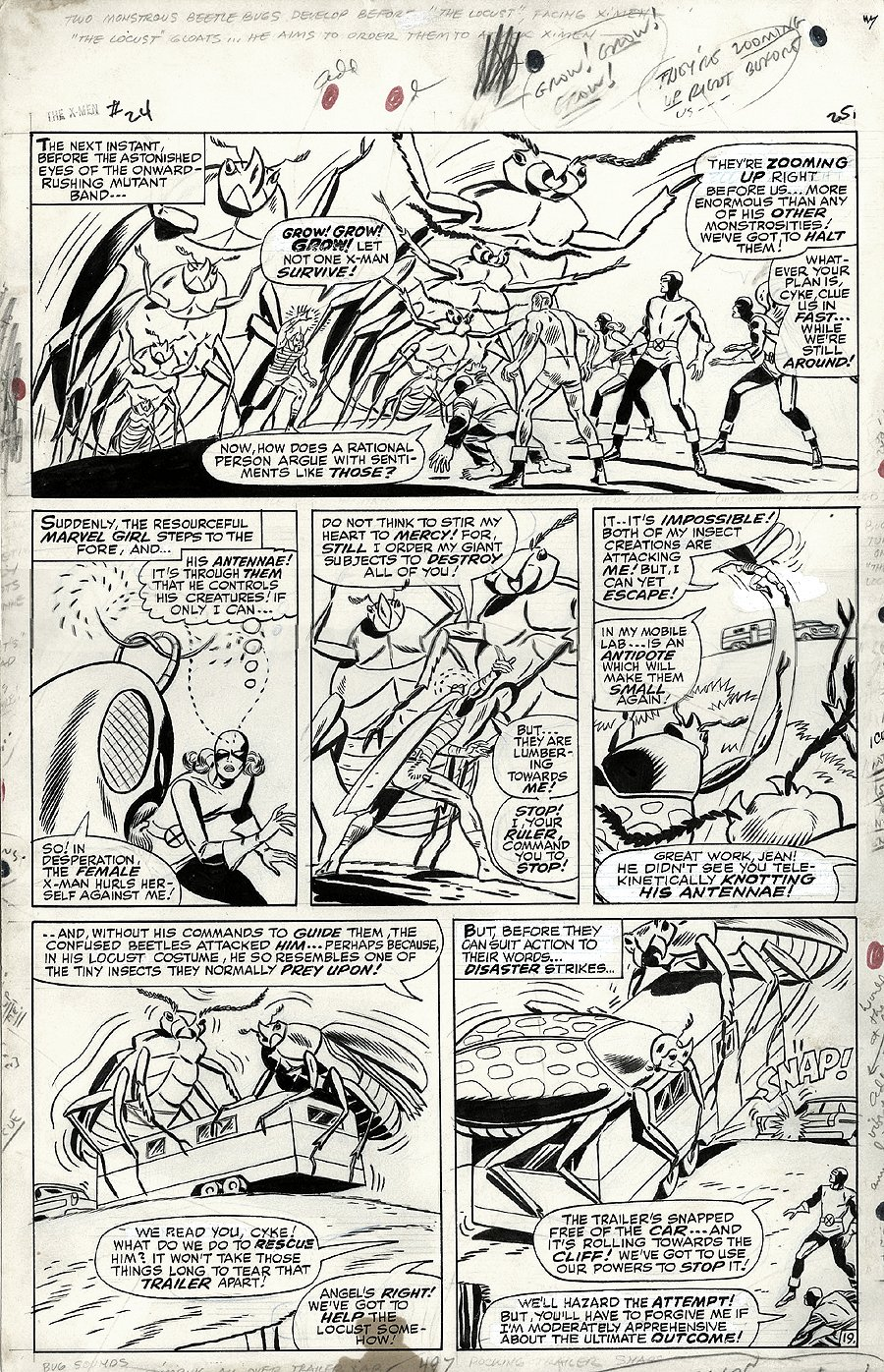 X-Men #24 p 19 (Large Art) 1966