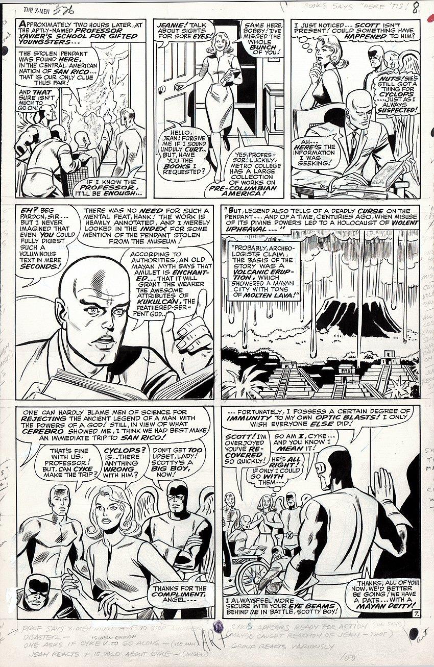 X-Men #26 p 7 (Large Art) 1966