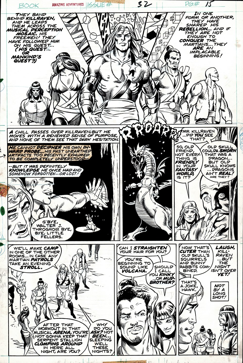 Amazing Adventures #32 p 15 (GREAT PAGE!) 1975