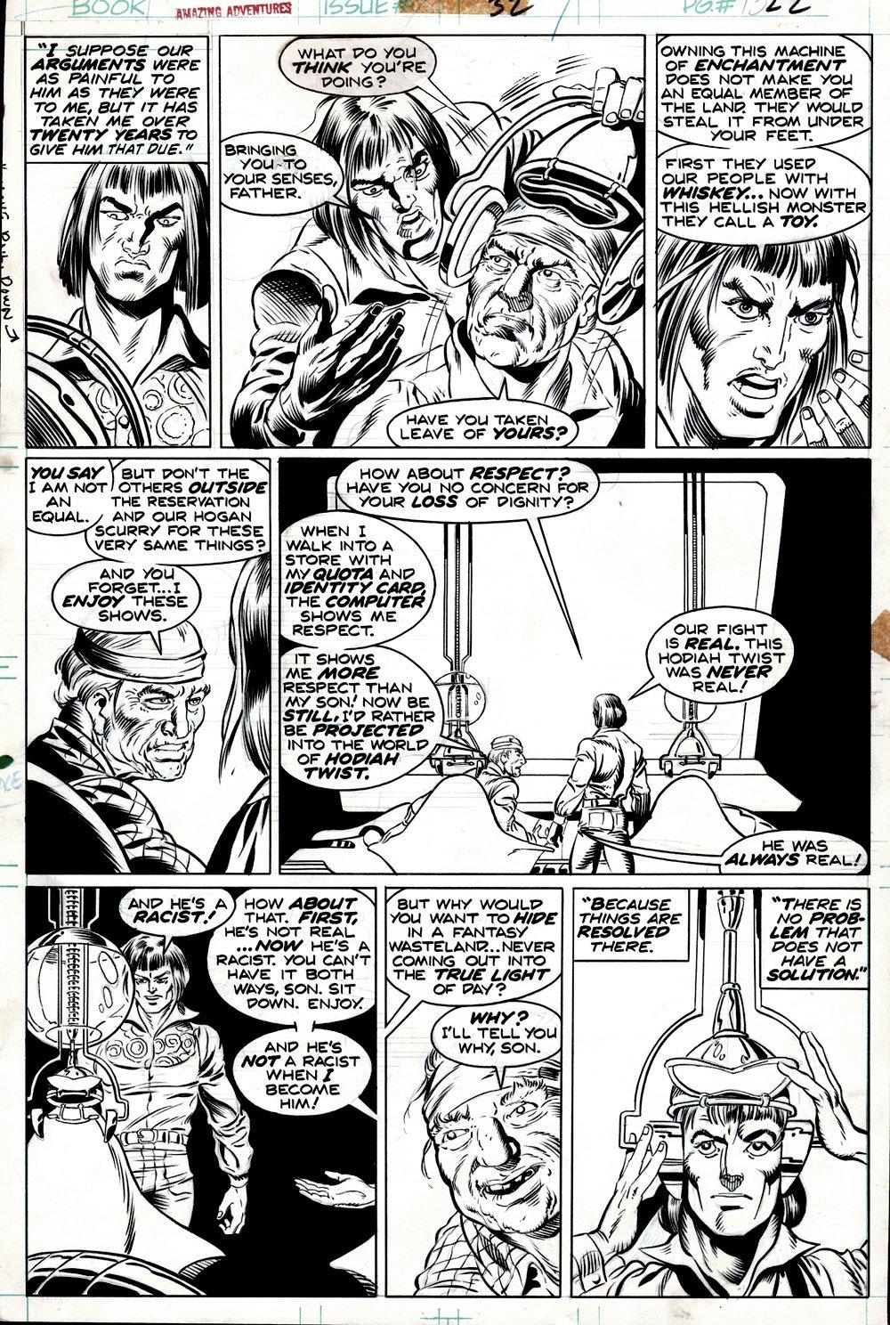 Amazing Adventures #32 p 22 (Superb Detail!) 1975