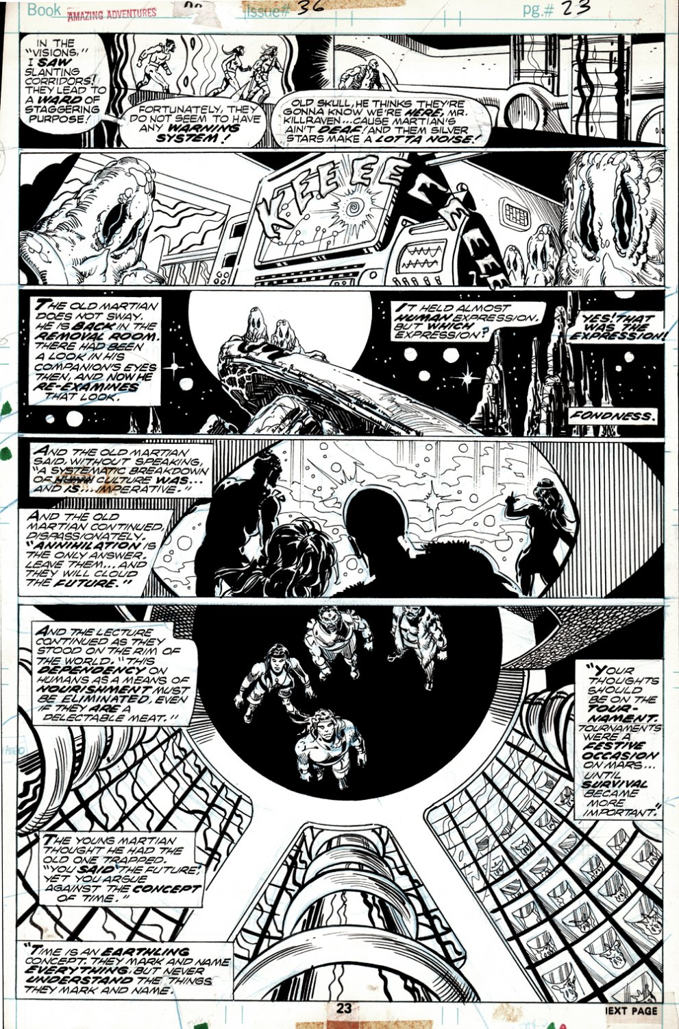 Amazing Adventures #36 p 23 (INCREDIBLY DETAILED PAGE!) 1975