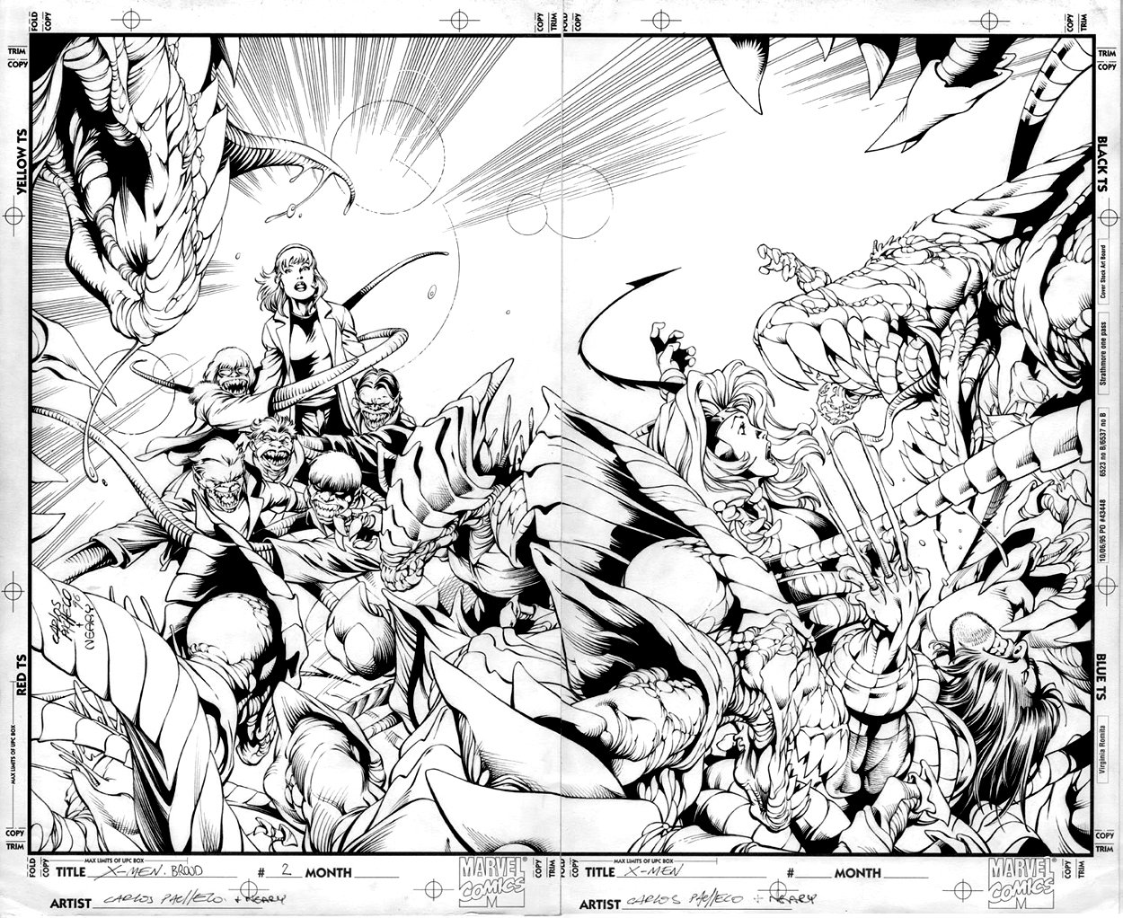 X-Men vs. The Brood #2 Wraparound Cover (1996)