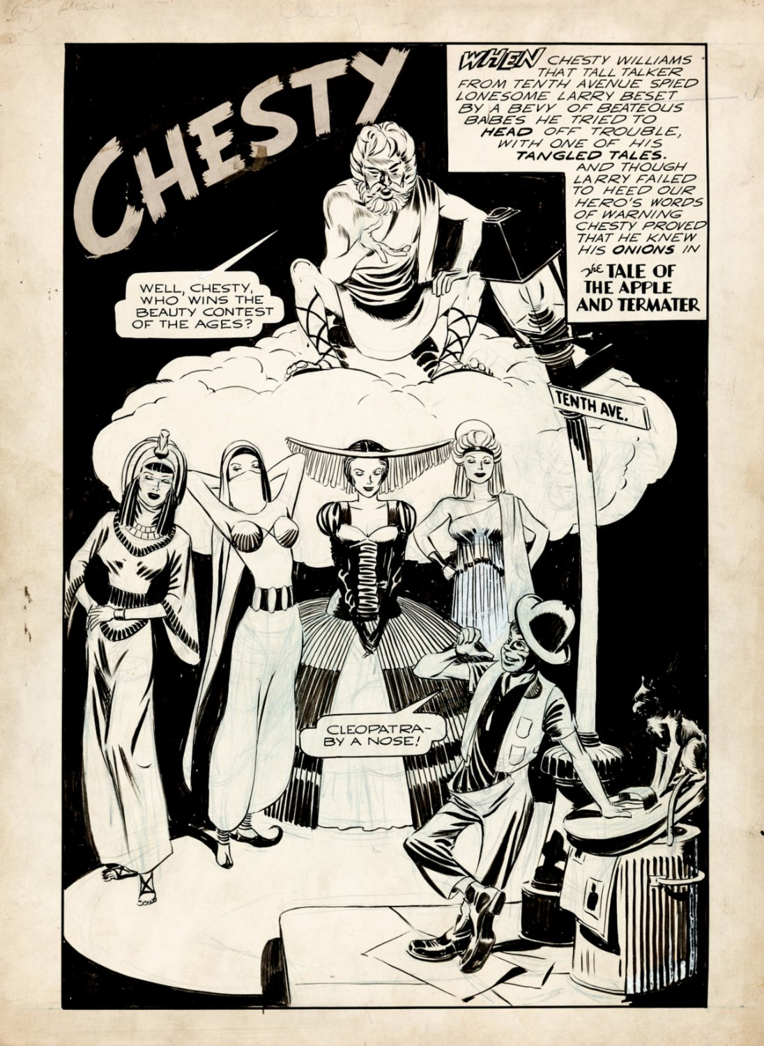Chesty Williams Golden Age Splash Page (Large Art) 1940s