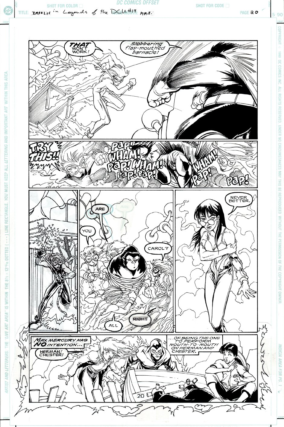 Legends of the DC Universe #19 p 20 (Impulse Battles Gorilla Grodd!) 1999