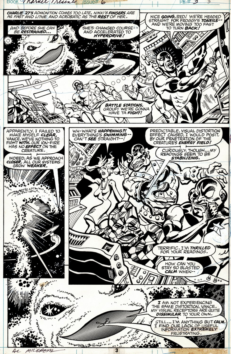 Marvel Presents #6 p 3 (SOLD LIVE ON 'DUELING DEALERS OF COMIC ART' EPISODE #34 PODCAST ON 9-1-2021(RE-WATCH THIS FUNNY ART SELLING SHOW HERE)